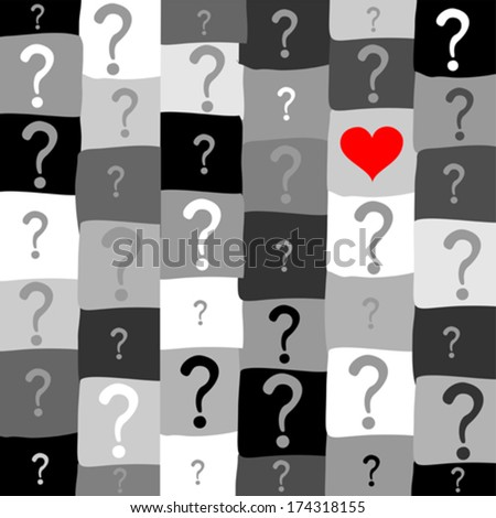 Question mark seamless background. Vector illustration  - stock vector