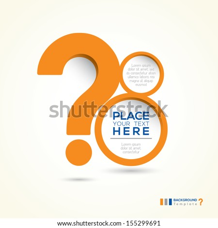 Question Mark Shape Minimal style Abstract Design Template Layout - stock vector