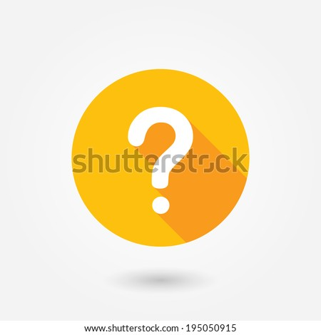 Question mark sign icon, vector illustration. Flat design style with long shadow - stock vector