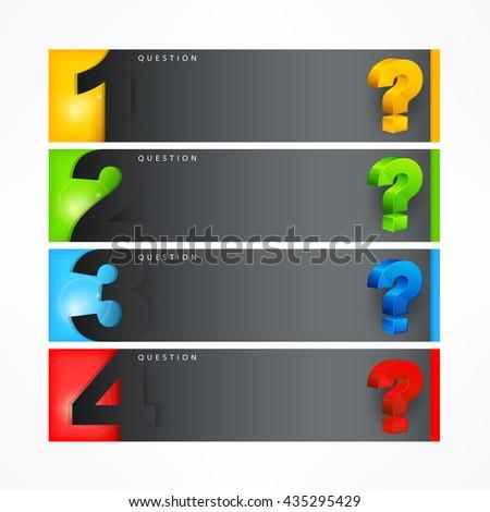 Question mark template vector illustration - stock vector
