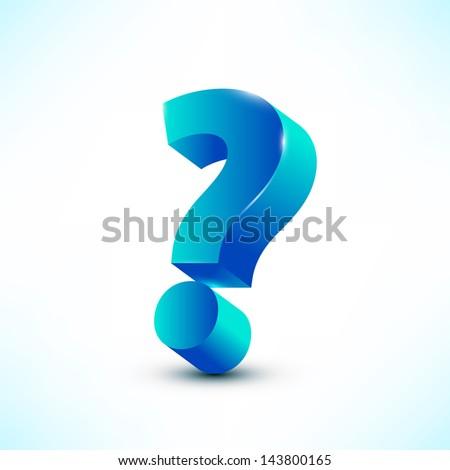 question mark vector illustration - stock vector