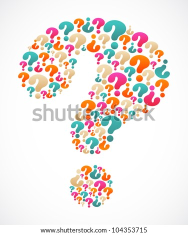 question mark with speech bubble icons - stock vector