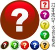 Question vector elements. - stock photo