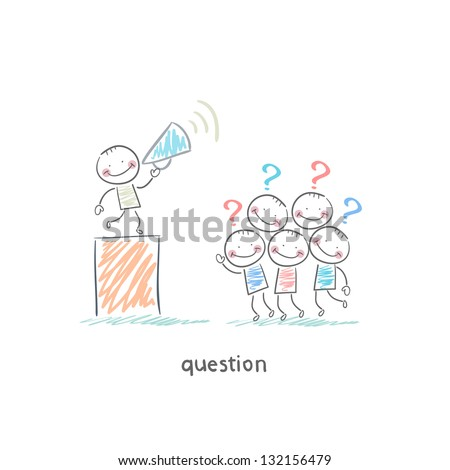 Questions - stock vector