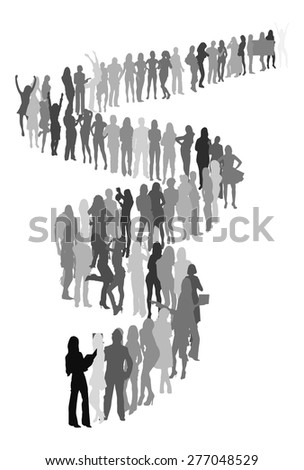 queue - stock vector