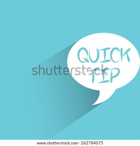 quick tip words - stock vector