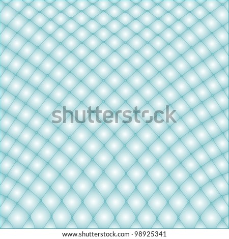 quilt of blue in the rhomb with the buttons - stock vector