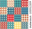 Quilt seamless pattern. Vector patchwork background. - stock
