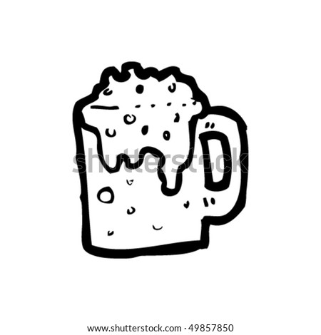 Beer Pencil Drawing Quirky Drawing of a Beer Mug