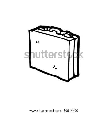 quirky drawing of a briefcase - stock vector