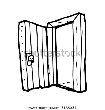 Open Closet Door Drawing