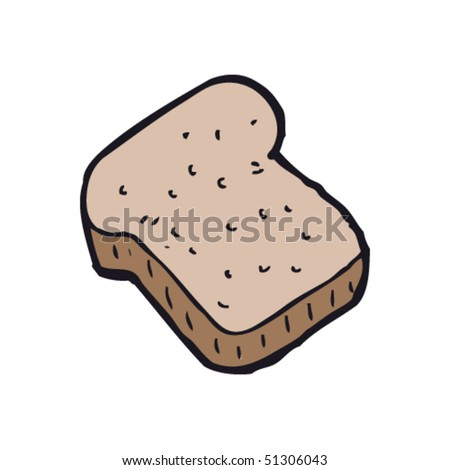 Bread Slice Drawing Quirky Drawing of a Slice of
