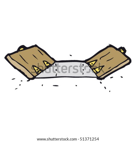 quirky drawing of a trap door - stock vector