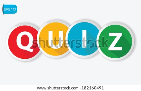 Quiz buttons on white background,vector - stock vector