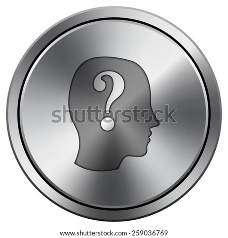 Quiz icon. Internet button on white background. EPS10 Vector.