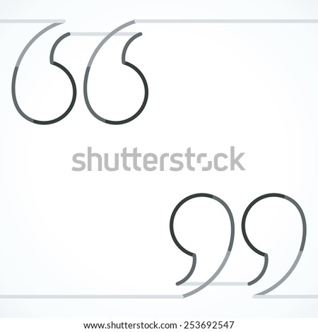 Quotation marks line vector illustration stock vector 253692547 quotation marks line vector illustration altavistaventures Gallery