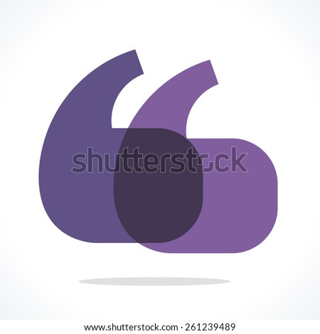 Quotation marks symbol. Violet and purple design elements - stock vector