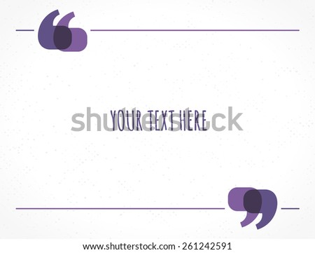 """""""text Frame With Quotation Marks"""" Stock Images, Royalty ..."""