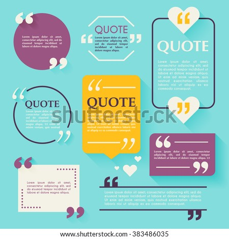 Quote blank template. Design elements, circle business card template, paper sheet, information, text. Quote template for your design. - stock vector
