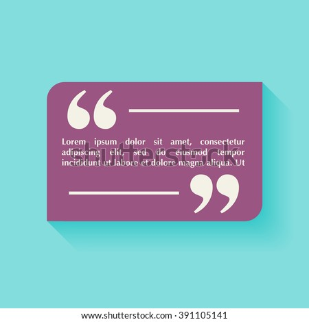 Quote blank template design elements circle stock vector 391105141 quote blank template design elements circle business card template paper sheet information reheart Image collections