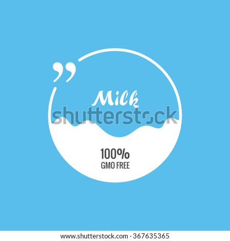 Quote blank template. Quote bubble Label pack milk. Empty template background. Circle business card template, paper sheet, information, text. Print design. Quote form. Template vector set - stock vector