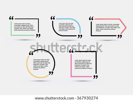 quote blank template vector eps 10 stock vector 367930274 shutterstock