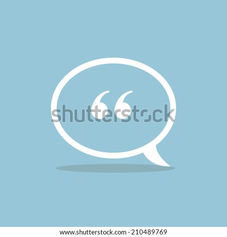 Quote icon vector - stock vector