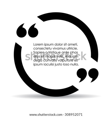 Quote marks bubble - stock vector