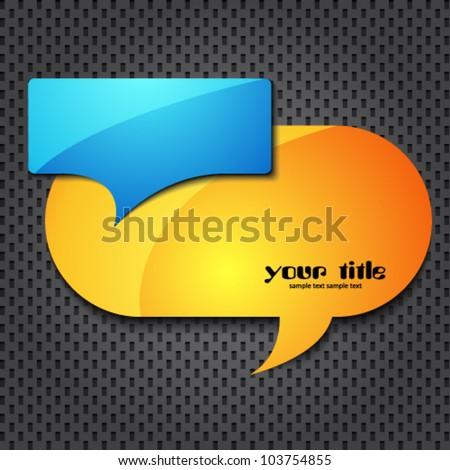 quote speech bubble - stock vector
