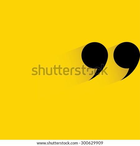 quote symbol, quotation mark symbol - stock vector