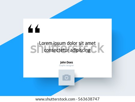quote template place text photo creative stock vector 563638747