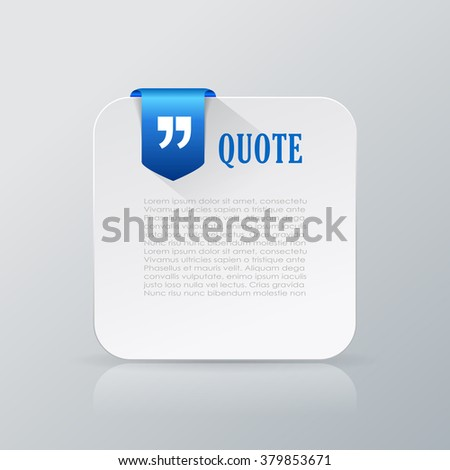 Quote text card vector illustration isolated on grey background - stock vector