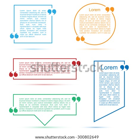 Quote text frames - stock vector