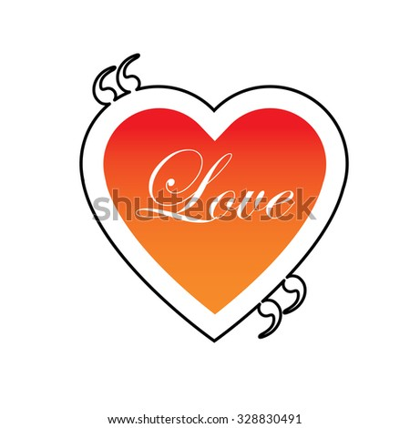 quote text heart shaped bubble vector graphic design using black line. also represents expression of love, love chat box, message dialogue box, intimacy, etc