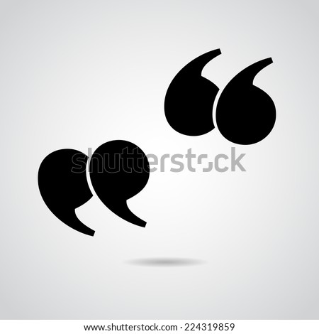 Quote vector icon isolated on white background. - stock vector