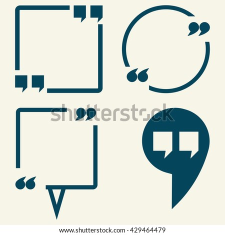 Quote vector icon isolated on white background.Quote vector.Quote vector icon.Quote icon.Quote icon flat.Quote icon sign.Quote icon symbol.Quote icon art.Quote icon picture. - stock vector