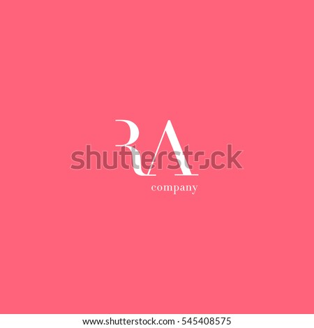 r a r a letters company logo vector