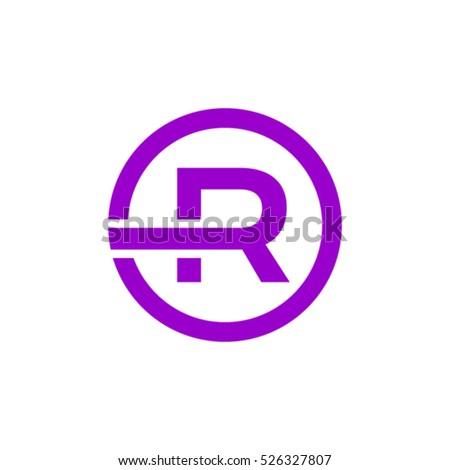 R letter logo design stock vector 526327807 shutterstock r letter logo design altavistaventures Image collections