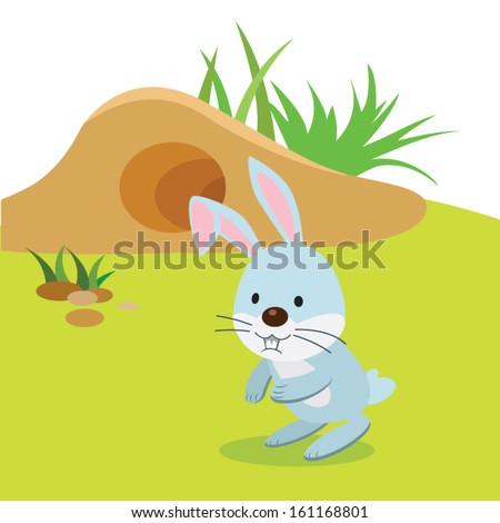 Rabbit burrow clipart - photo#3