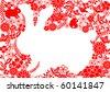 rabbit background - stock vector