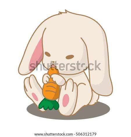 carrots eating illustration rabbit stock images  royalty Potato Clip Art Corn Clip Art