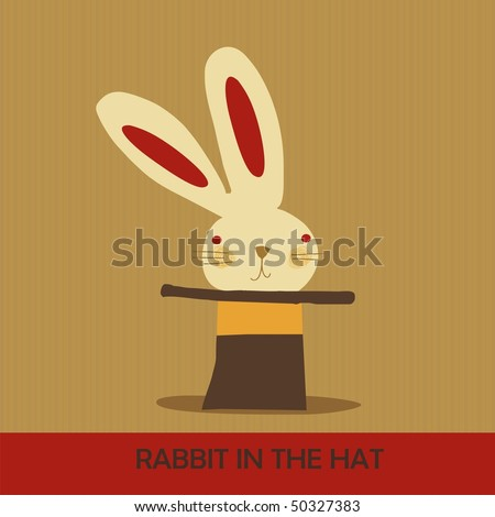 rabbit in the hat - stock vector