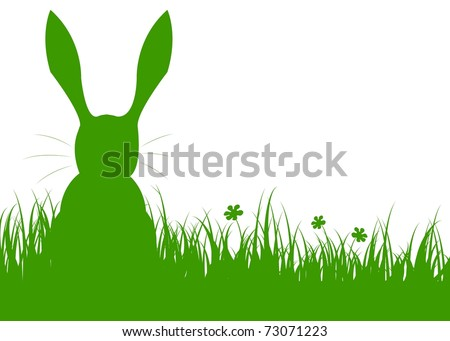 rabbit on a meadow - stock vector