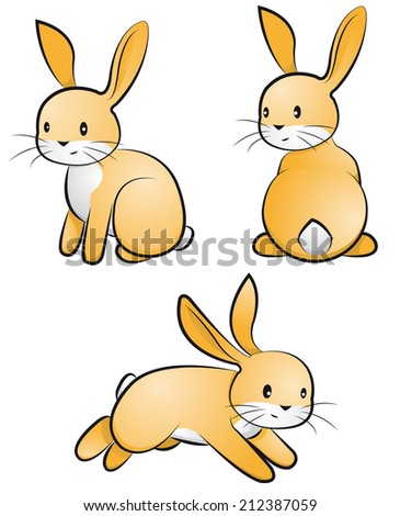 rabbit-set - stock vector