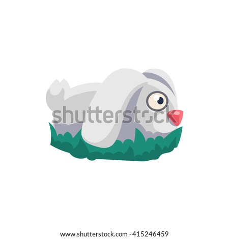 Rabbit Simplified Cute Illustration In Childish Colorful Flat Vector Design Isolated On White Background  - stock vector