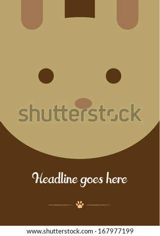 rabbit vector poster design template/ layout design/ background - stock vector