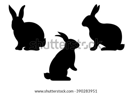 Rabbits, Vector Illustration - stock vector
