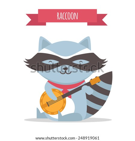Raccoon - stock vector