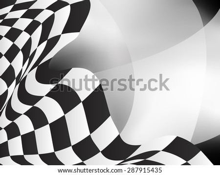 race background checkered flag vector design - stock vector