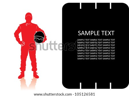 Race car driver - vector background - stock vector